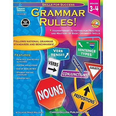 Carson-Dellosa Grammar Rules Book, Grade 3-4