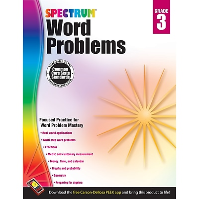 Carson-Dellosa Spectrum® Word Problems Workbook, Grade 3 (CD-704489)