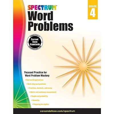 Carson-Dellosa Spectrum® Word Problems Workbook, Grade 4 (CD-704490)