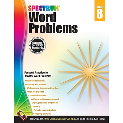 Carson-Dellosa Spectrum® Word Problems Workbook, Grade 8 (CD-704494)