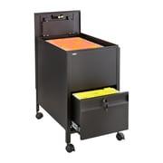 Safco® 1 Drawer Steel Locking Mobile Tub File with Drawer, Letter Size, Black (5364BL)