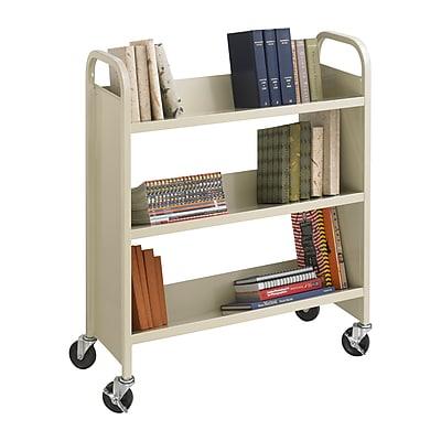Safco® 5358 Single-Sided Book Cart, Sand