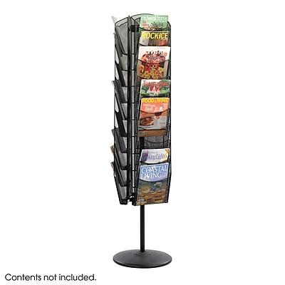 Safco® Onyx™ Steel Rotating Mesh Magazine Stand (5577BL)