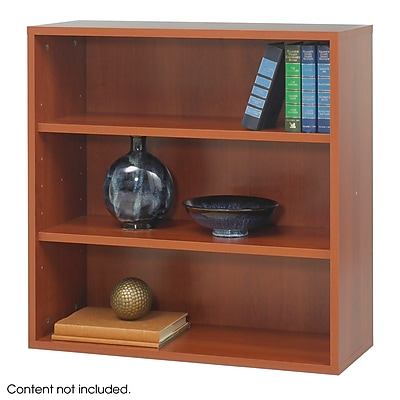 Safco® Après™ Modular Open Bookcase, Cherry, 3 Shelf, 30