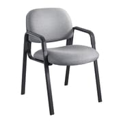 """Safco® Cava® Urth™ Collection Straight Leg Guest Chair, Fabric, Gray, Seat: 20""""W x 18""""D, Back: 20""""W x 14""""H"""