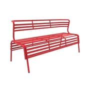 Safco CoGo Steel Outdoor/Indoor Bench, Red (4368RD)