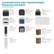 Dixie Ultra® Interfold 2-Ply Napkin Dispenser Refill by GP PRO, White, 250 Napkins Per Pack, 24 Packs Per Carton (32006)