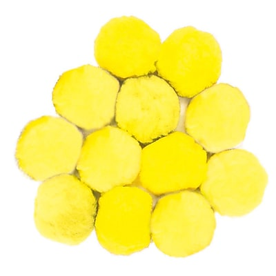 Chenille Kraft® Colossal Fluff Ball, 90 mm, Yellow