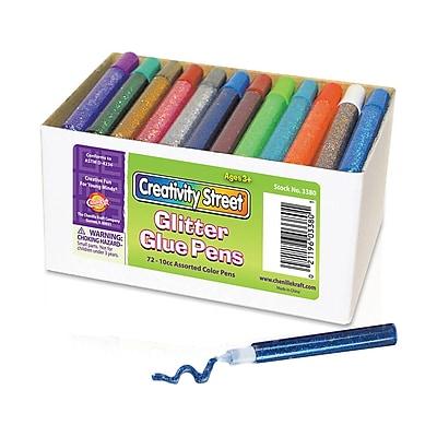 Chenille Kraft® Glitter Glue Pens, Classroom Pack - 72/Pack