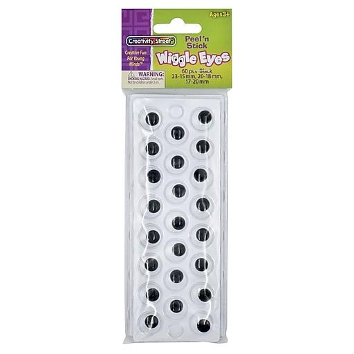 Peel N Stick Wiggle Eyes On Sheets Black 49 Pk 6 Pk Bd At Staples