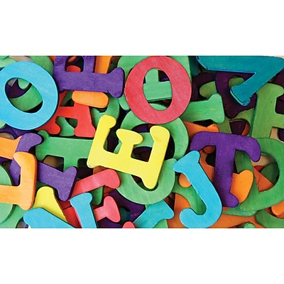 Chenille Craft® Colored Wooden Capital Letters, 2 EA/BD