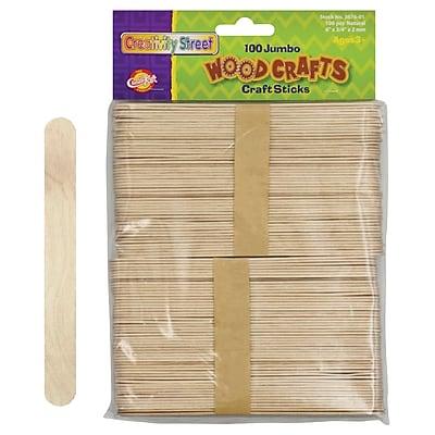 Chenille Kraft Company® Jumbo Wood Craft Sticks, Natural, 6