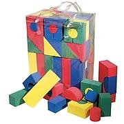 Chenille Kraft Company Colorful Shaped Foam Blocks, Assorted Colors, 68/Pk