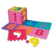 "Chenille Kraft® WonderFoam® Numbers Puzzle Mat, 10"" x 10"", 20/Pack"