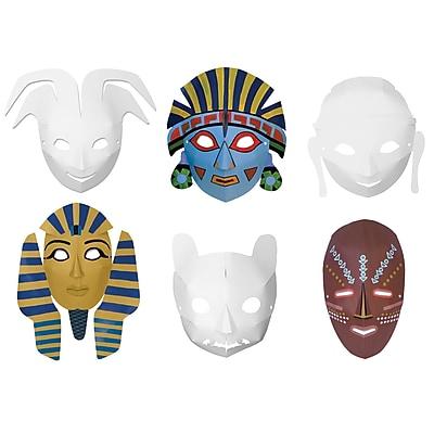 Multi Cultural Dimensional Masks, Pack of 24