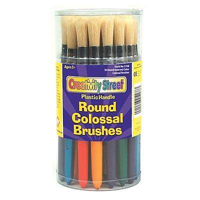 Chenille Kraft® Paint Brushes; Colossal Brushes, Round