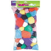 Creativity Street® Colossal Poms, Assorted Colors, 1 lb. (CK-818101)