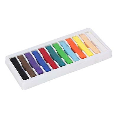 Chenille Kraft® Quality Artists Square Pastels, Assorted, 12/Box