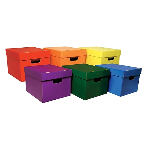"""Classroom Keepers Storage Tote Assortment, Stackable, External Dimensions: 10.1""""H x 12.3""""W x 15.3"""""""