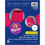 "Pacon, Premium Tagboard Rojo Red, 8.5"" x 11"", Bundle of 5 Packs for a total of 250 Sheets (PAC1000024)"