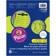 """Pacon, Premium Tagboard Pumpkin Hyper Lime, 8.5"""" x 11"""", Bundle of 5 Packs for a total of 250 Sheets (PAC1000025)"""