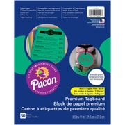 """Pacon, Premium Tagboard Emerald Green, 8.5"""" x 11"""", Bundle of 5 Packs for a total of 250 Sheets (PAC1000029)"""