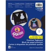 "Pacon, Premium Tagboard Black, 8.5"" x 11"", Bundle of 5 Packs for a total of 250 Sheets (PAC1000031)"