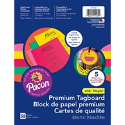 "Pacon Hyper Premium Tagboard Assortment, 8.5"" x 11"", Bundle of 3 Packs, 50 Sheets Per Pack (PAC101160)"