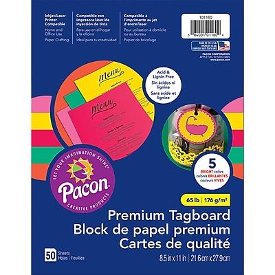 Pacon Hyper Premium Tagboard Assortment, 8.5