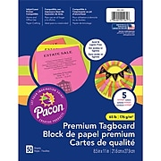 """Pacon Brights Premium Tagboard, 8.5"""" x 11"""" Assorted Colors, Bundle of 3 Packs, 50 Sheets Per Pack (PAC101161)"""