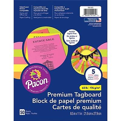 Pacon Brights Premium Tagboard, 8.5