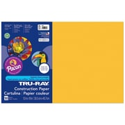 """Pacon Tru-Ray Construction Paper 18"""" x 12"""", Gold, 50 Sheets (PAC102998)"""