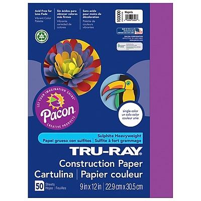 Pacon® Tru-Ray® Sulphite Construction Paper, Magenta, 12