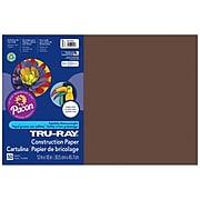 "Pacon® Tru-Ray® Sulphite Construction Paper, Dark Brown, 12""(W) x 18""(L), 50/PK, 3 PK/BD"