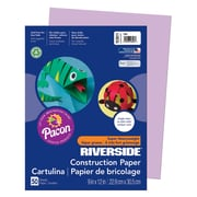 """Pacon® Riverside® Groundwood Construction Paper, Lilac, 12""""(H) x 9""""(W), 50 Sheets"""