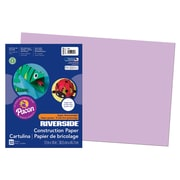 """Pacon® Riverside® Groundwood Construction Paper, Lilac, 18""""(H) x 12""""(W), 50 Sheets"""