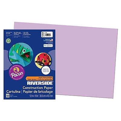 Pacon® Riverside® Groundwood Construction Paper, Lilac, 18