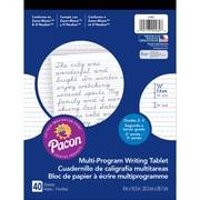 "Pacon® Zaner-Bloser™ D'Nealian™ Multi-Program Handwriting Tablet Paper, 8"" x 10-1/2"", 40 Sheets"