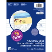 Pacon® Picture Story Ruled Newsprint Paper Pad, 10 EA/BD