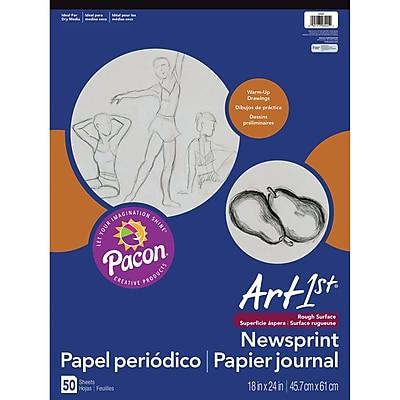 Pacon® Art1st® White Newsprint Paper Pad, 24