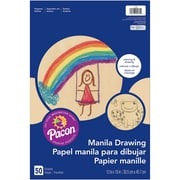 """Pacon® Manila Drawing Paper, 12"""" x 18"""", 6 Packs of 50 Sheets Per Pack"""