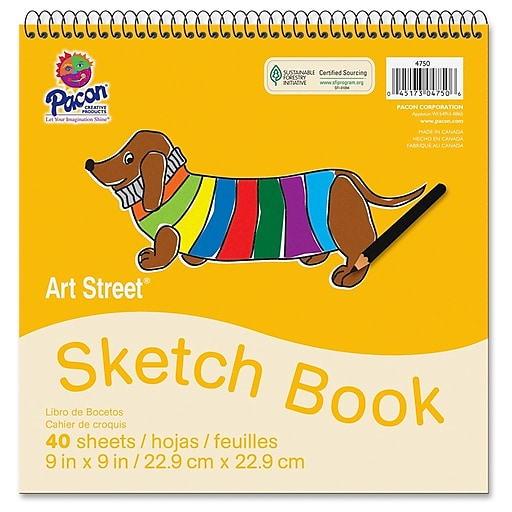 "Pacon® Art Street® White Drawing Paper Pad, 9"" x 9"" (PAC4750)"