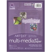 "Art1st 9"" x 12"" White, Premium Multi-Media Art Paper (PAC4841)"