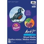"Pacon® Art1st 12"" x 18"" White, Premium Multi-Media Art Paper (PAC4843)"