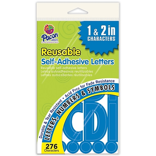 Pacon Self-adhesive Letters; 276, Blue