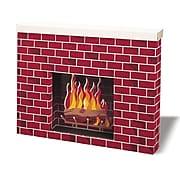 "Pacon Corobuff Corrugated Fireplace, 7"" x 30"" x 38"", Red Brick (PAC53080)"