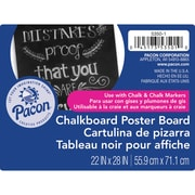 "Pacon® Chalkboard Poster Board, 22"" x 28"", Black, 25 Sheets (PAC53501)"