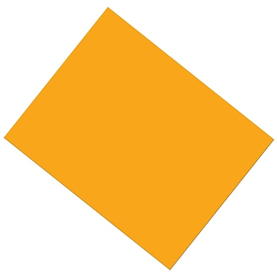 """Pacon® Coated Poster Board, Orange, 22"""" x 28"""", 25 Sheets (PAC53821)"""