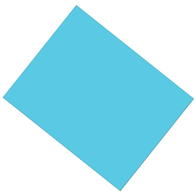 """Pacon® Coated Poster Board, Light Blue, 22"""" x 28"""", 25 Sheets (PAC53871)"""