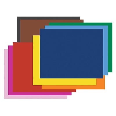 Railroad Poster Board; 4-Ply, Assorted Pack, 50 sheets